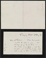 thumbnail image for James McNeill Whistler letter to Herbert Charles Pollitt