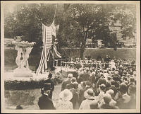 view Photograph of the dedication of <em>Friendship Fountain</em> at McGill University digital asset number 1