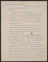 thumbnail image for Abbott Handerson Thayer, N.H. letter to Franklin D. (Franklin Delano) Roosevelt, Washington, D.C.