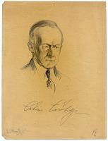 thumbnail image for Samuel J. Woolf sketch of President Calvin Coolidge