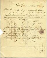 thumbnail image for George Catlin, Fort Gibson, Okla. to D. S. Gregory.
