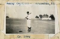 view Ed Berry posing with bat, Alexandria, Virginia digital asset: Ed Berry posing with bat, Alexandria, Virginia
