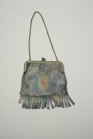 view Multi-Colored Mesh Purse with Metal Hand Chain digital asset number 1