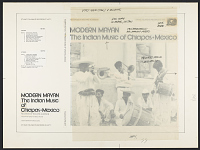 view Modern Mayan. Vol. 1 [sound recording] : the Indian music of Chiapas, Mexico / recorded and edited by Richard Alderson digital asset number 1