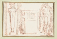 view Studies with figure of Apollo from Raphel's School of Athens digital asset number 1