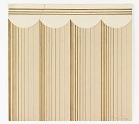 view Wallpaper Design: Gold Stripes on Beige Ground digital asset number 1
