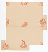 view Still Life Motifs on Pink Ground, Wallpaper Design digital asset number 1