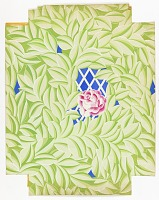view Green Leaves and Roses on Lattice, Wallpaper Design digital asset number 1