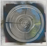 view Growth Ring Stencil for Exterior or Interior Wall Application for Large-Scale Study digital asset number 1