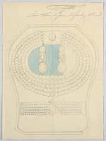 view Design for a Jewel Box with Earrings, a Pearl Necklace, and a Bracelet digital asset number 1