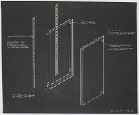 view Design for Wall-Mounted Combination Easel, Donald Deskey Associates Office, New York, NY digital asset number 1