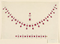 view Design for a Parure with Rubies and Pearls digital asset number 1