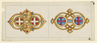 "view Two Designs for Brooches in the ""Byzantine"" Style digital asset number 1"