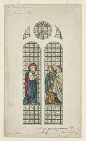 view Design for Stained Glass Window, St. Paul's Church, Boston, MA digital asset number 1