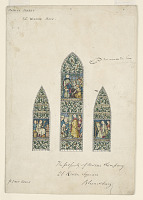 view Design for Stained Glass, Southeast Window Nave, Paisley Abbey, Scotland digital asset number 1