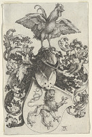 view Coat of Arms with Lion and Rooster digital asset number 1