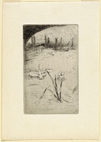 """view Sketch after Cecil Lawson's """"Swan and Iris"""" digital asset number 1"""