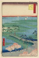 view Former Hachiman Shrine, Sunamura (Sunamura Moto-Hachiman) From the Series One Hundred Famous views of Edo digital asset number 1