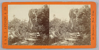 view Stereograph: Lover's leap on the French Broad River digital asset number 1