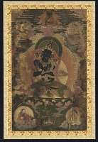 view Vajradhara surrounded by smaller figures of Telopa, Naropa, Marpa and Milaraspa digital asset number 1