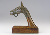 view Finial in the form of a horse's head digital asset number 1