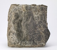 view Daoist sculpture with four figures in relief digital asset number 1