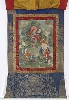view Arhats Ajita, Kalika, and Vanavasin, from a six-part set of Arhat Immortal Thangkas digital asset number 1