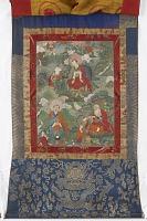 view Arhats Rahula, Cudapanthaka, and Pindola, from a six-part set of Arhat Immortal Thangkas digital asset number 1