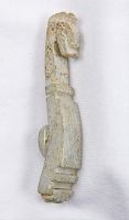 view Garment hook (daigou) with an animal head and ridges in the style of the Warring States period digital asset number 1