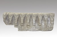 view Frieze section with eight ibex heads, fragment digital asset number 1