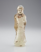 view Glass figure of a standing Bodhisattva digital asset number 1