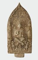 view Stele with Bodhisattva Maitreya (Mile); reverse with Buddha Vairochana (Pilushena) digital asset number 1
