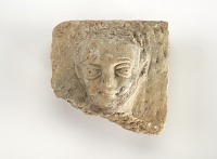 view Plaque with male head, fragment digital asset number 1