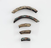 view 5 fragments of glass rings or bracelets digital asset number 1