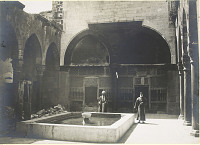 view Muristan. Courtyard. Photo Thévenet. Corpus, p1. CXLVb digital asset: Aleppo [Syria]: Maristan Courtyard. Photo Thévenet. [graphic]