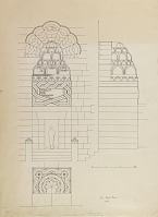 view Aleppo (Syria): Mashhad al-Husayn: Elevation of Portal [drawing] digital asset number 1