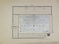 view D-3: Aleppo (Syria): Great Mosque: Ground Plan digital asset: Aleppo (Syria): Great Mosque: Ground Plan [drawing]