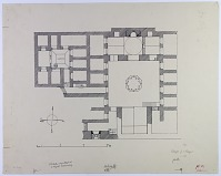 view Aleppo (Syria): Khanqah fi'1-Farafra: Ground Plan [drawing] digital asset number 1