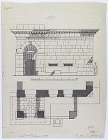 view Aleppo (Syria): Madrasa al-Shuaybiyya: Elevation and Ground Plan [drawing] digital asset number 1
