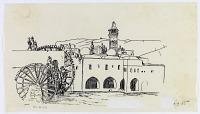 view D-83: Hamah. Jami'Nuri.SA-II, fig.65 digital asset: Hama (Syria): Nur al-din Mosque: Sketch of the Building [drawing]