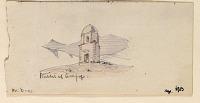 view D-111: Damascus, Qubbat al-Asafir. Water-color.SA-III, fig.57 digital asset: Aleppo (Syria): Salihin Cemetery, Turbat Ali al-Harawi: Drawing of Arabic Inscription No. 139, in Naskhi Ayyubid Script, on Side of Basalt Basin [drawing]