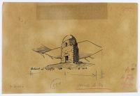 view D-111a: Damascus, Qubbat al-Asafir. Tracing of D-111 digital asset: Damascus (Syria): Qubbat al-Asafir: Sketch, [drawing]
