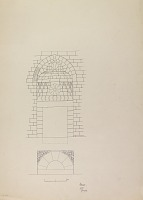 view D-122: Damascus (Syria): Yalbugha Mosque, Western Fac̦ade of Courtyard: Elevation and Plan of Entrance Portal digital asset: Damascus (Syria): Yalbugha Mosque, Western Fac̦ade of Courtyard: Elevation and Plan of Entrance Portal [drawing]