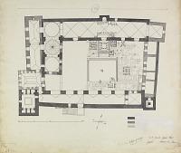 view D-125: Hamah, Jami' Nuri, plan.SA-II, fig.64 digital asset: Hama (Syria): Nur al-din Mosque: Ground Plan [drawing]
