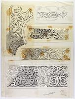 view D-145: Hamah, Jami' Nuri, ornament of minbar digital asset: Hama (Syria): Nur al-din Mosque, Minbar: Ornamental Border [drawing]