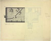 view D-146a: Mosul (Iraq): Private House: Penciled Ground Plan digital asset: Mosul (Iraq): Private House: Penciled Ground Plan [drawing]
