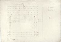 """view D-161: Dara. Great Mosque, plan. Marked """"unpublished"""" digital asset: Dara (Turkey): Great Mosque: Ground Plan [drawing]"""