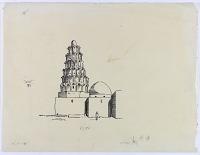 view D-218: Zubair (Old Basra). Tomb of Hasan al-Basri (tracing).SA-I, fig.68 digital asset: Zubair (Iraq): Tomb of Hasan al-Basri [drawing]