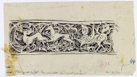 view D-221: Hama (Syria): Nur al-din Mosque, Mihrab: Arabesque Scroll Depicting Animals and Vegetal Ornaments digital asset: Hama (Syria): Nur al-din Mosque, Mihrab: Arabesque Scroll Depicting Animals and Vegetal Ornaments [drawing]