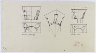 view D-230a: Ink copy of D-230 digital asset: Isfahan (Iran), Damascus (Syria): Two Truncated Cone Capitals [drawing]